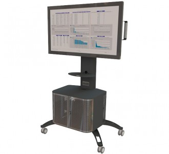 Gilkon Mobile LCD / Plasma Display Stands with Cabinet