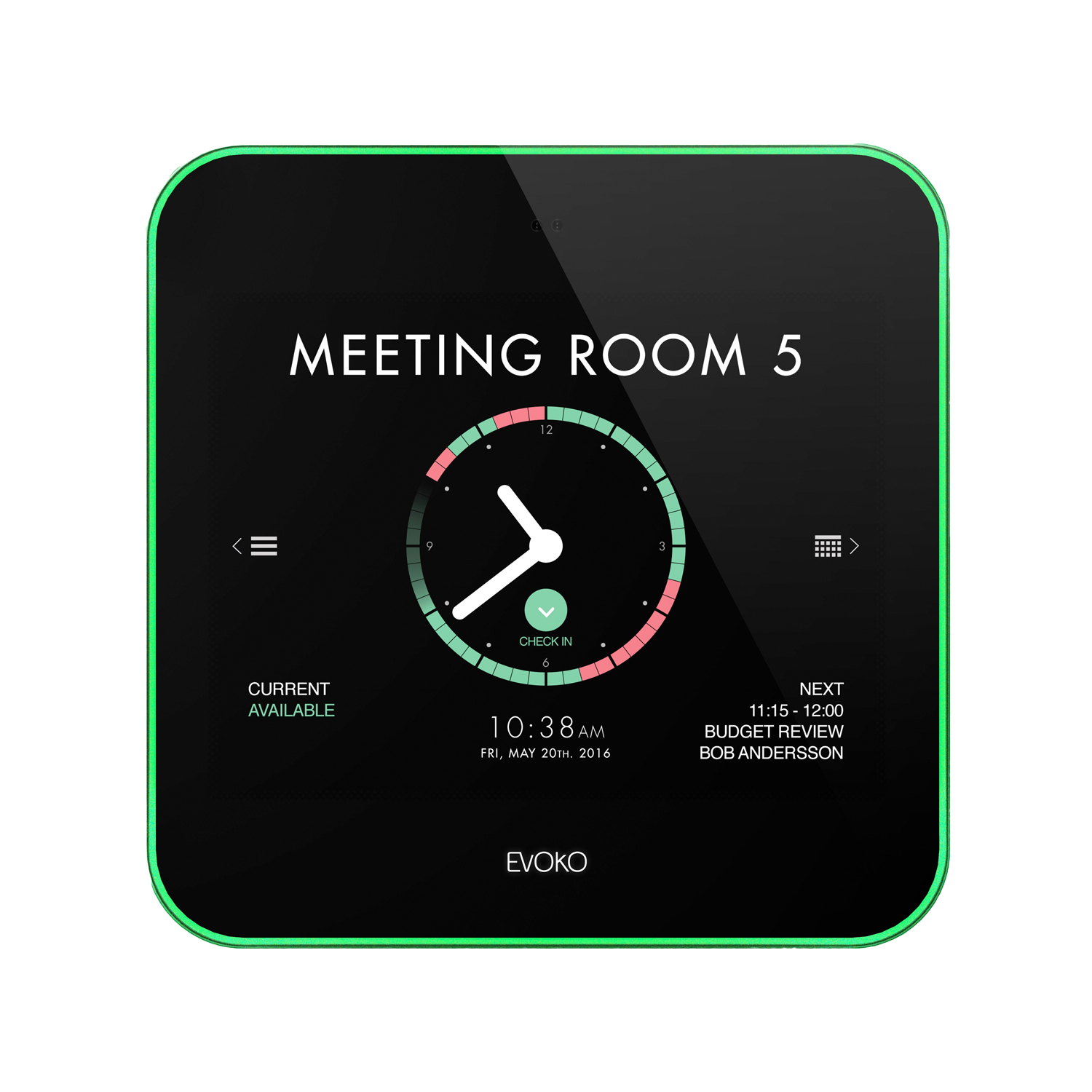 Evoko Liso Room Manager Meeting Room Booking System