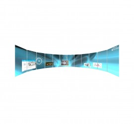 MultiTaction Curved iWall video wall