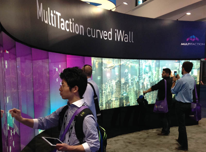 Multitaction Curved Iwall Curved Video Wall Solution
