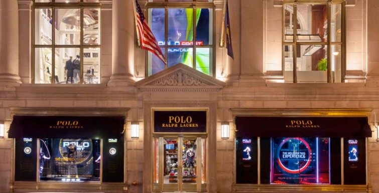 Ralph Lauren Creates Holographic and Interactive Touch Screen Windows