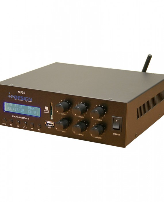Indesign mp30 compact 30w mixer amplifier with fm usb sd for Mp30 projector