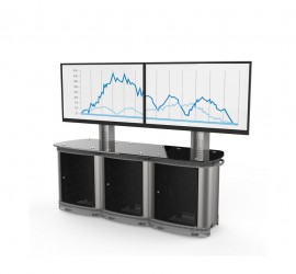 TeamMate Conference Triple: Large Screen Support Cabinet