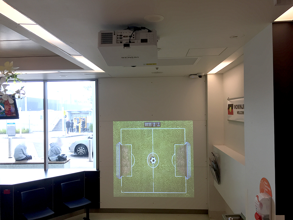Monash Health Interactive Wall Projection