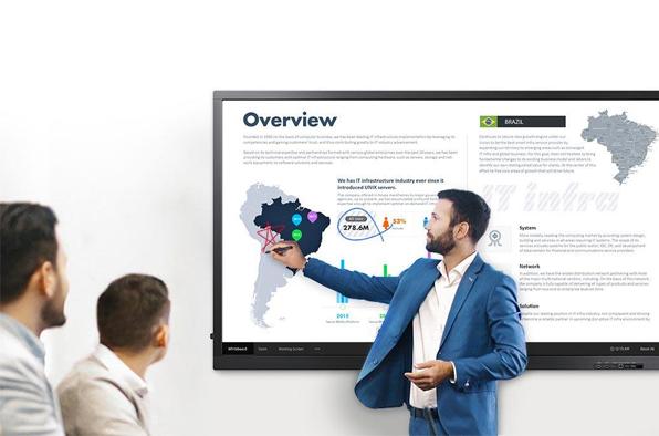 """Samsung QB65H-TR 65"""" Interactive E-board Touch Screen Melbourne Australia"""