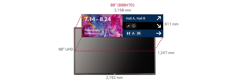 "LG 86""-88"" LED Ultra Stretch Signage Display Melbourne Australia"