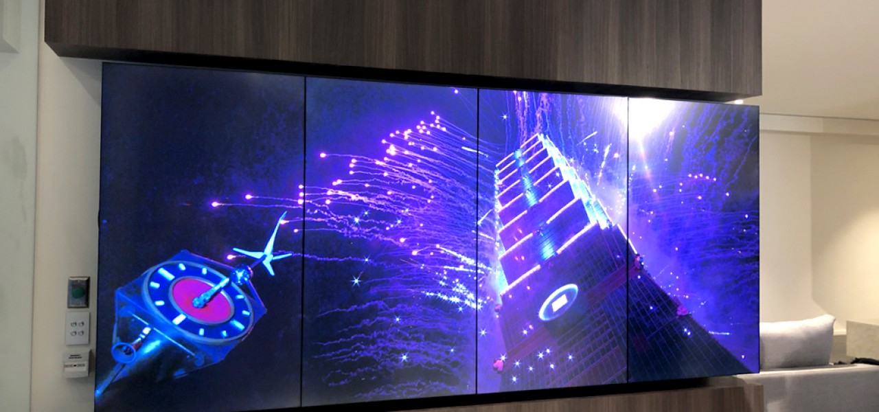 The Evermore, by Landence Group – 1×4 Portrait Video Wall