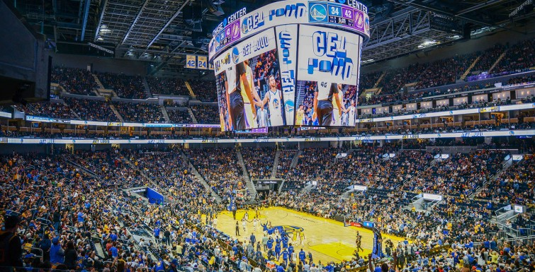 Samsung Partners with Golden State Warriors to Install NBA's Largest Centerhung LED Scoreboard at Chase Center