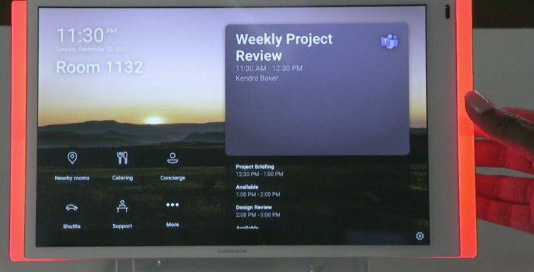 Crestron to Deploy Microsoft Teams Panel Touch Screens for Room Booking