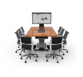 WorksZone Rectangle Collaboration Table - TechWell XL