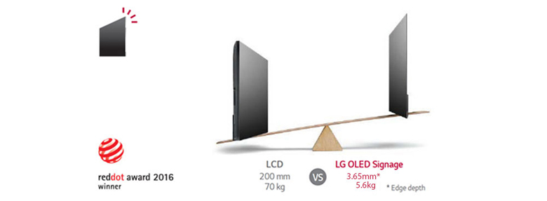 "LG 55"" OLED Wallpaper Commercial TV Melbourne Australia"