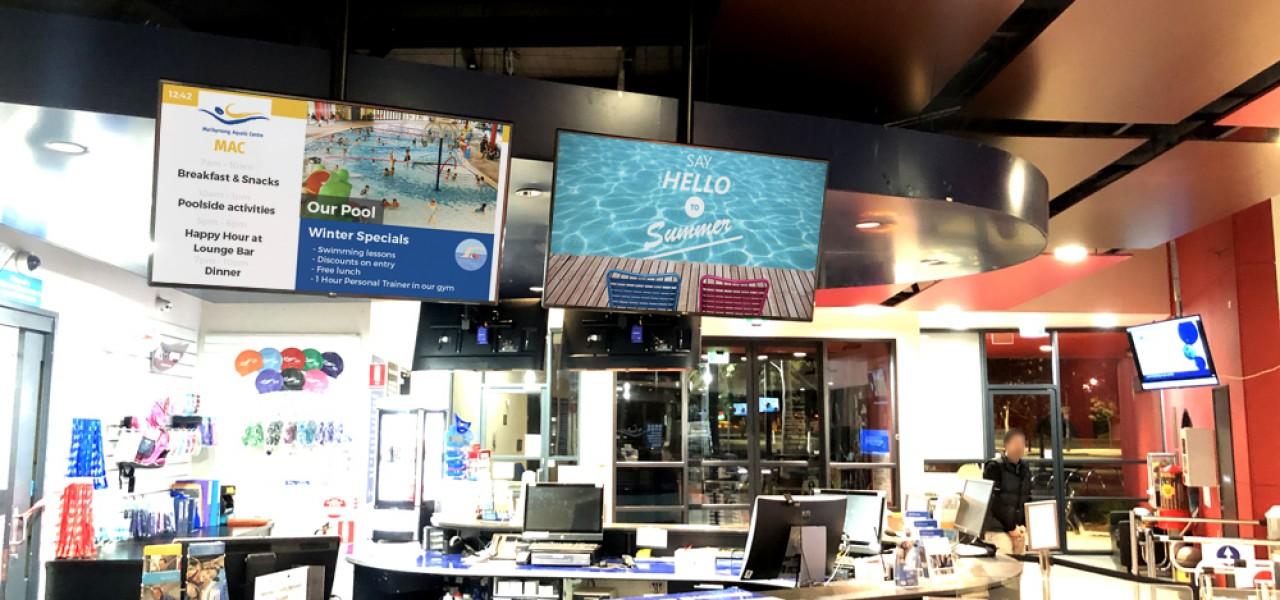 Maribyrnong Aquatic Centre – Digital Signage