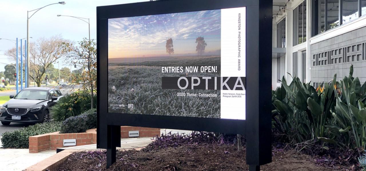 Kingston Arts Centre – Outdoor LED Road-Facing Signs